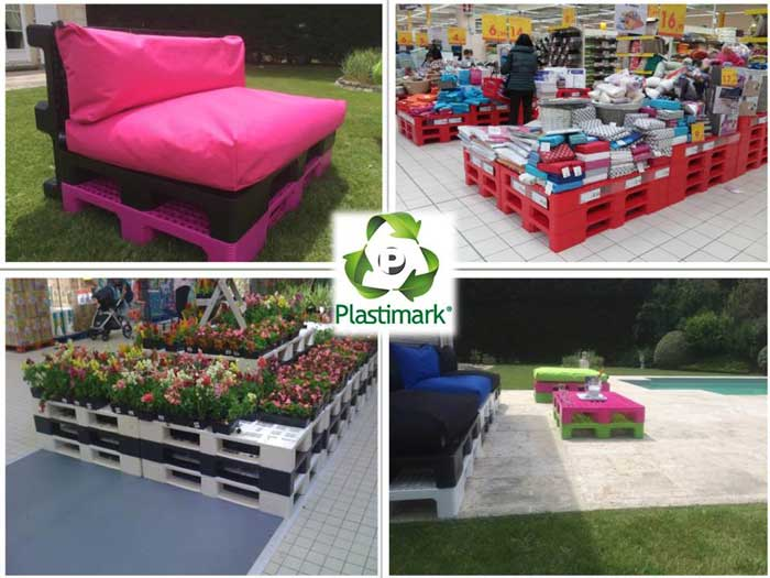 VERSATILITY OF PLASTIMARK PALLETS. FUNCTIONALITY AND DESIGN AT THE SERVICE OF CONSUMERS.