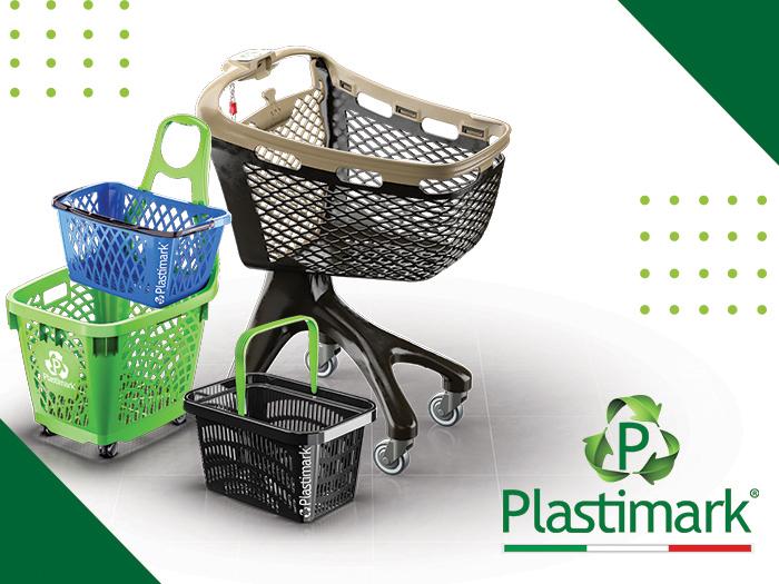 Plastimark: des chariots et des paniers au design unique pour chaque type de magasin.